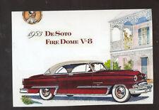 1953 DE SOTO FIRE DOME CAR DEALER ADVERTISING POSTCARD COPY '53 DESOTO