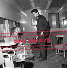 "ELVIS PRESLEY on ""Hollywood"" Bound Train April 1960 20x20 MEGA DELUXE Photo #2"