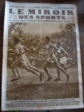 Le Miroir des sports N°502 du 3 septembre 1929 Zeppelin, cyclisme, athlétisme