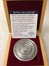 (JC) SUKOM 1998 Commonwealth Game Royal Selangor Pewter Medallion Coin UNC
