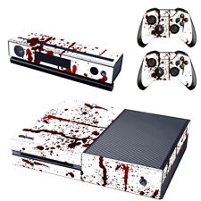 Xbox One Console Skin 2x Controller Stickers Decal FacePlate - Blood Splatter