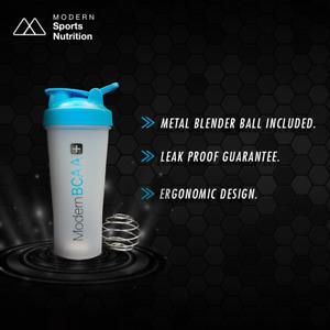 Modern BCAA® Shaker Bottle with Metal Blender Ball
