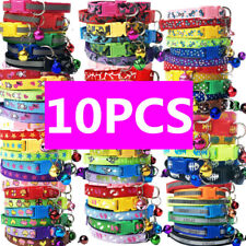 10PCS Small Dog Collars Wholesale Lot Puppy Kitty Cat Collar Nylon Necklace