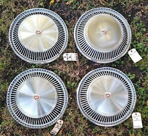 1967-78 Cadillac Eldorado Wheel Cover Hubcaps  Set 4 *GRADE A-*  Very Good Shape