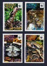 Sierra Leone WWF Forest Puff Adder 4v MNH