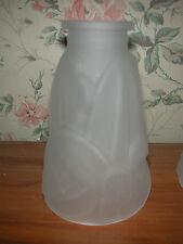 Tulipes art déco en pâte de verre (verre moulé pressé) non signée (11 dispos)