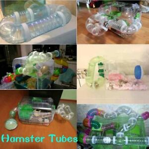 Pet Hamster U-type Pipe Line Tubes Training Play Toy Connected External Tunnel
