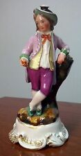 c.1850s Jacob Petit French Porcelain Cologne Perfume Bottle Gentleman Figurine