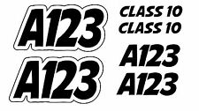 Autograss Numbers Any Class Door Signs Grass Track Graphics Set NASA