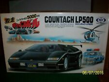 Countach LP500 Motorized Model Kit 1/24 made in Japan by Tokio Marui