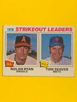 Nolan Ryan/Tom Seaver-1977 Topps (1976 Strikeout Leaders)