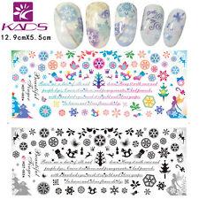 3 Sheets/Lot Christmas Snowflake Design Nail Sticker  Water Decal HOT001-003