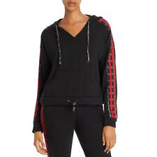 Vintage Havana Womens Glen Plaid Striped Hooded Sweatshirt Top BHFO 0123