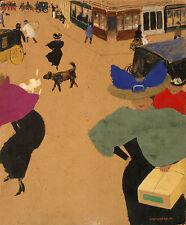 Felix Vallotton Reproductions: Paris Street Scene - Fine Art Print