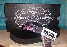 MUDDY Girl Purple Pink Camo Rhinestone Wings Flip Flops Sandals Shoes Size 8 NEW
