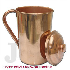 Pure Copper Ayurvedic Water Storage Jug 1.5ltr Goodfor Stomach/Skin/Liver/Kidney