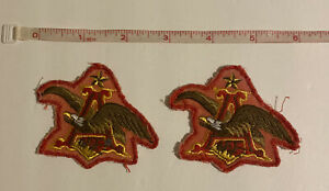 Vintage Budweiser Beer Patch Lot Anheuser Busch Eagle  2  Sew On Patches