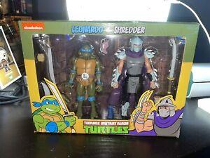 NECA TMNT Leonardo vs Shredder Target Exclusive 2-pack Box Damage