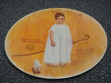 Angel With A Black Eye Rockwell 1975 Christmas 1st Edition Collector Plate