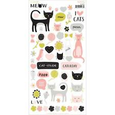 "My Mind's Eye - MEOW - 6x12"" Sticker Sheet - cats"
