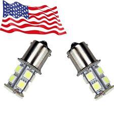 2-Pack White 1156 BA15S 13-SMD 5050 LED Light bulbs Turn Signal Backup Reverse