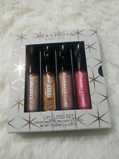 Anastasia lip gloss set diamond citrine pearl pink tourmaline new in box