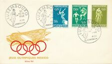 1968 Olympic Games Mexico City, FDC Luxembourg.