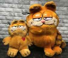 "Vintage Garfield Plush Lot Dakin 1981 United Feature Syndicate 10"" and 8"" Dakin"