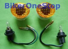 INDFSLMA - Flush CAT EYE Fairing INDICATORS Micro AMBER Pair Mini NEW