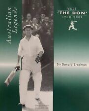 AUSTRALIAN LEGENDS .. Sir Donald Bradman ... 1908-2001.