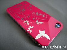 Funda Carcasa dura para iphone 4 y iphone 4S Rosa Fucsia mariposa