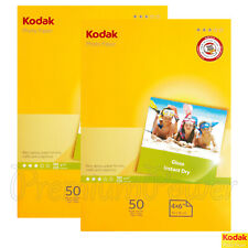 100 sheets x KODAK A6 Photo Paper Glossy 10 x 15mm 180gsm for inkjet printers