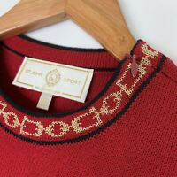 St John Sport Womens Sleeveless Shell Top Red Santana Knit Size Small