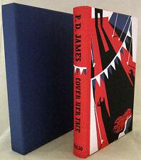 Cover Her Face P D James illust Jonathan Burton Folio 1st 2008 in Slipcase   VG