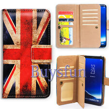 Bcov Retro Union Jack Flag 9 Slot Leather Cover Case For Samsung Galaxy S8+/Plus
