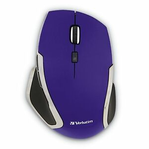 Verbatim Wireless Notebook 6-button Deluxe Blue Led Mouse - Purple - Blue Led -