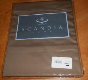 "New Scandia Home Style N705 57 12 Pillow Sham Cocoa Dark Brown Boudoir 12"" X 16"""