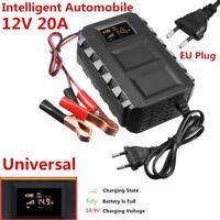 Hot ! Intelligent 12V Car Battery Charger Jump Starters Car Motorcycle EU Plug
