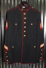"USMC US MARINE CORPS DRESS BLUES JACKET 46 R 42"" CHEST SERGEANT"