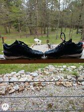 Adidas Men's Baseball Cleats Black White Silver SIZE 10 EUC