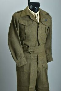 British Military WW2 Issue 1945 Dated Canadian Made Battledress Uniform. CGN