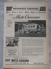 1959 Pitt Camper vans Original advert