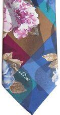 """Oscar de la Renta Men's Polyester Tie 57"""" X 4"""" Multi-Color Floral"""