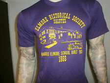vtg 80s HARRIS ELMORE SCHOOL T SHIRT Ohio Historical Society 1988 Purple LARGE