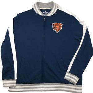 Fanatics Chicago Bears Men's XL Blue Orange Full Zip Track Jacket Fleece MAAV