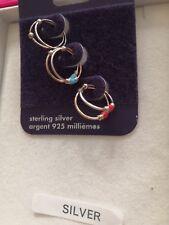 Sterling Silver Hoop Earrings 6mm Set Of 3