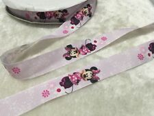 25mm Minnie Mouse Purple Grosgrain Ribbon Craft Cake Decoration Bow Per Meter