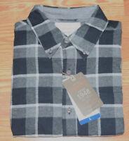 NWT Mens WEATHERPROOF Vintage LS Black Plaid Flannel Shirt Size XXL