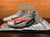 Nike Phantom Vision VSN 2 Elite DF FG Men Size 8.5 Grey Soccer Cleats CD4161-906