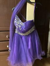 May Queen Couture Purple Dress Size 8 Previously owned